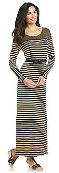 Calvin Klein Variegated Stripe Maxi Dress