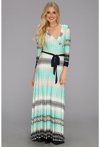 rsvp - Elaine Long Sleeve Wrap Maxi Dress (Mint) - Apparel