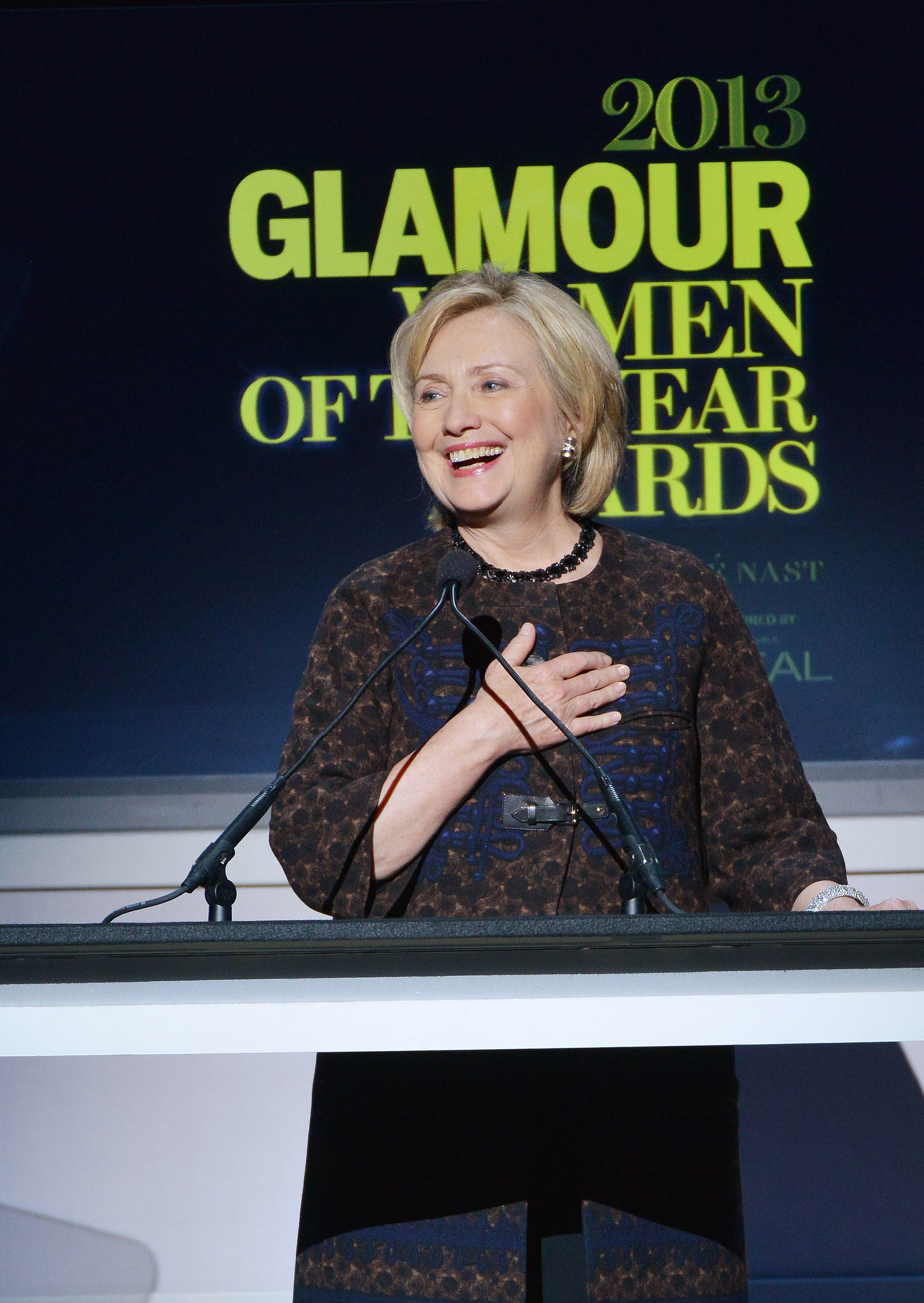 Hillary Clinton was a crowd favorite at Glamour magazine's annual Women of the Year Awards.