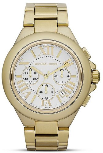 Michael Kors Gold Tone Camille Watch, 43mm