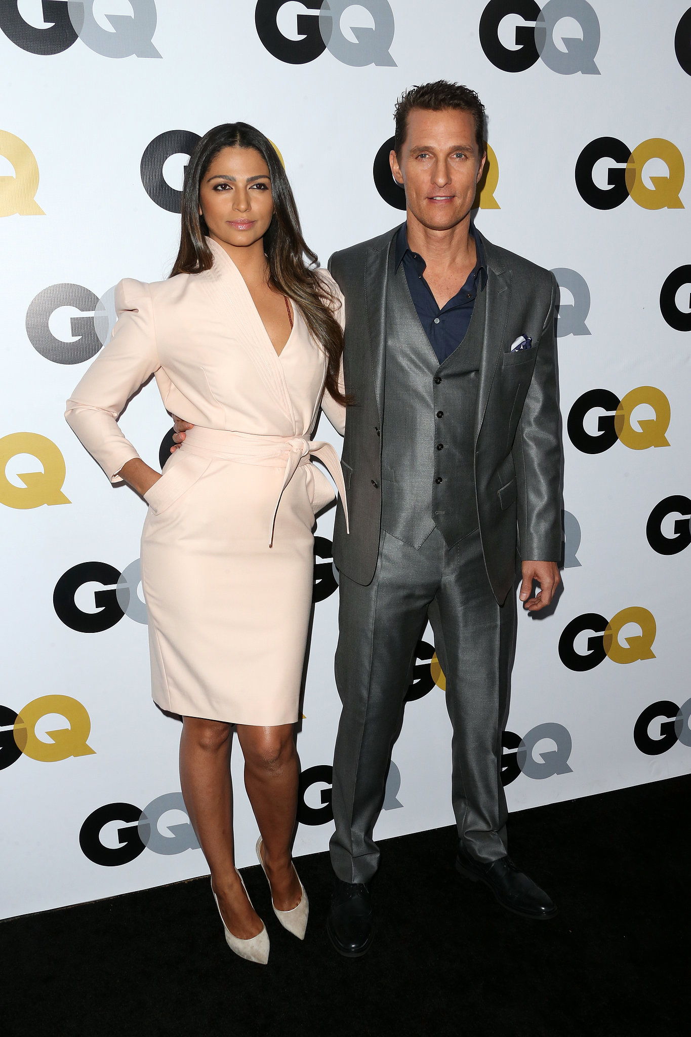 Matthew McConaughey and Camila Alves hit the red carpet together for the GQ Men of the Year party.