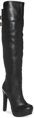 Material Girl Rozie Over-The-Knee Platform Dress Boots