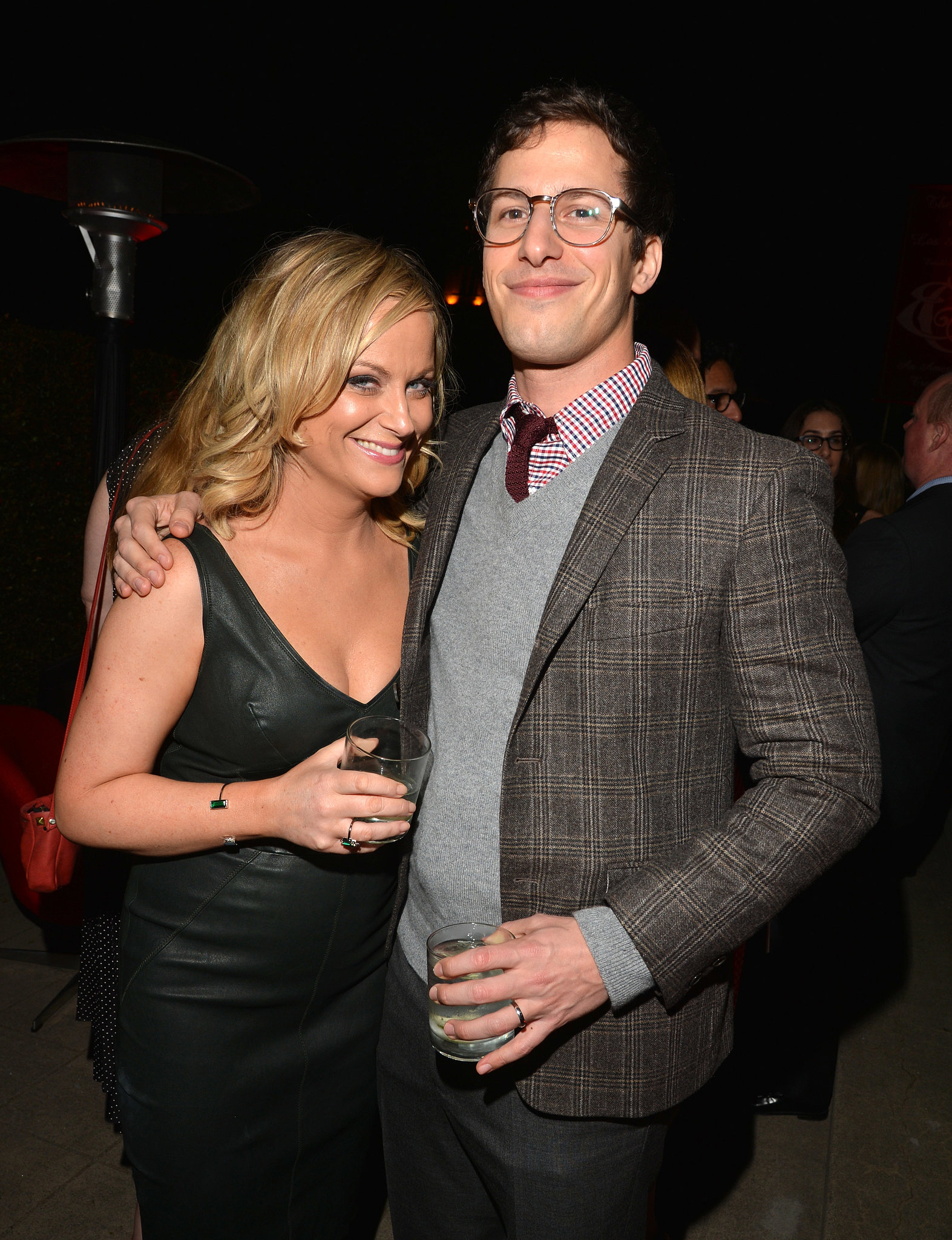 SNL alums Amy Poehler and Andy Samberg met up inside the event.