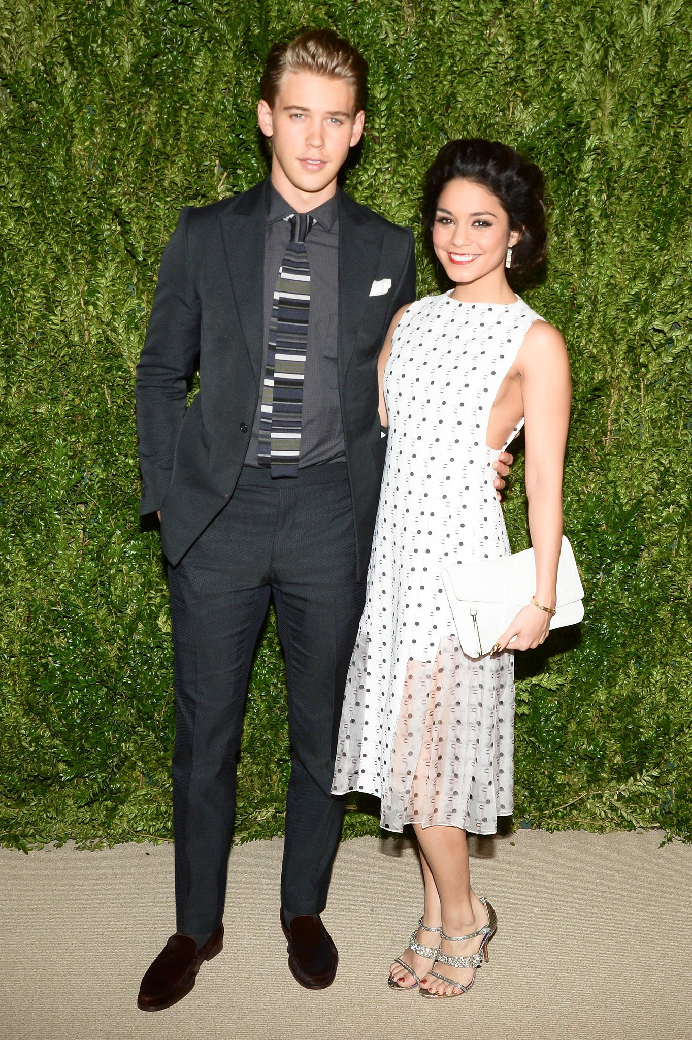 Austin Butler and Vanessa Hudgens in Thakoon Resort 2014.