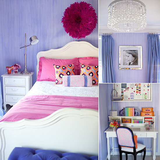 Pretty and stylish pink and purple big girl 39 s room - Pink and purple kids room ideas ...