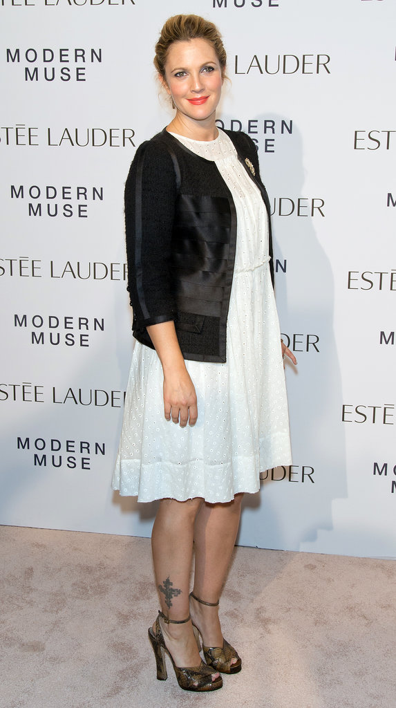 Drew Barrymore at the Estee Lauder Modern Muse Fragrance Launch