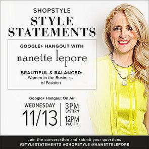 Nanette Lepore Google+ Hangout