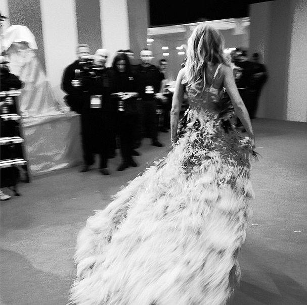 Erin Heatherton's quick change wasn't too fast for Victoria's Secret to catch! Source: Instagram user victoriassecret