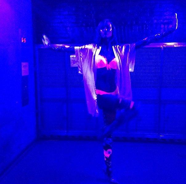 Karlie Kloss is literally electric. Source: Instagram user karliekloss