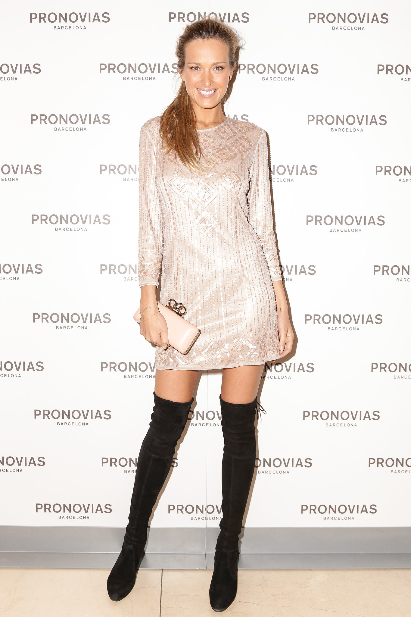 Petra Nemcova at the Pronovias Atelier fashion show.
