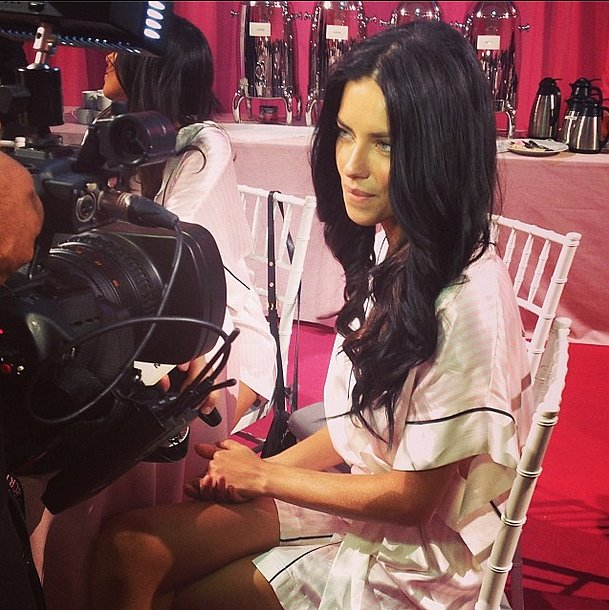 Look who we spotted backstage before the show: Adriana Lima! Source: Instagram user popsugarfashion