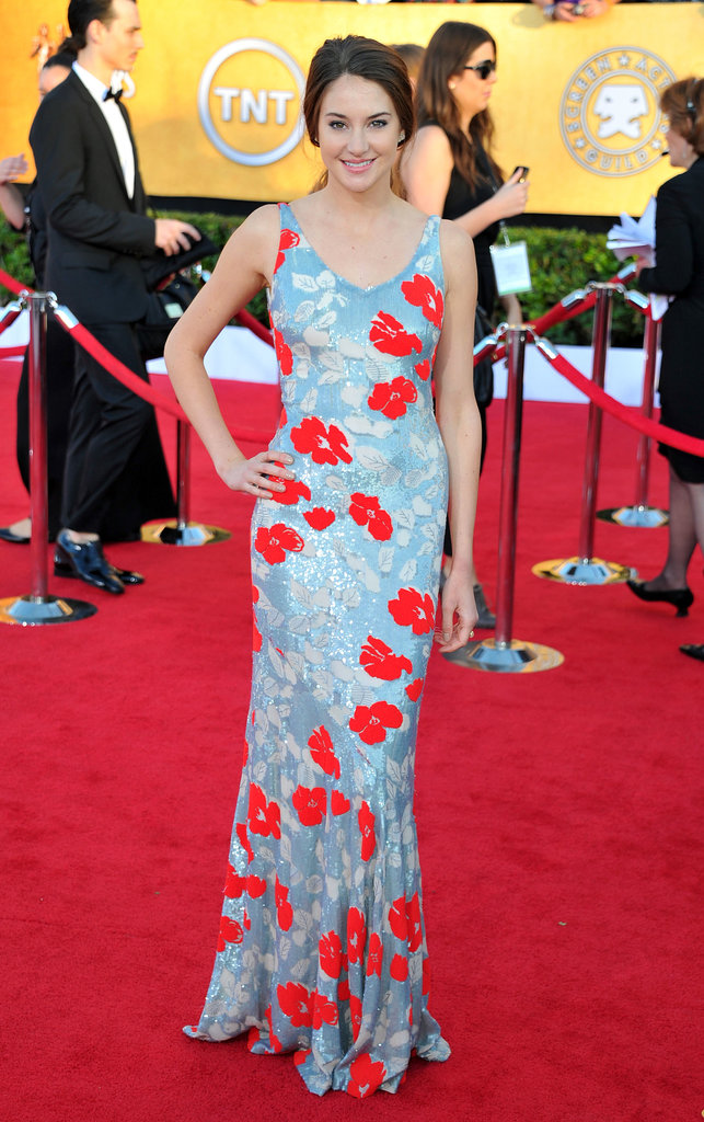 Shailene Woodley in Floral Appliqué L'Wren Scott at the 2012 Screen Actors Guild Awards
