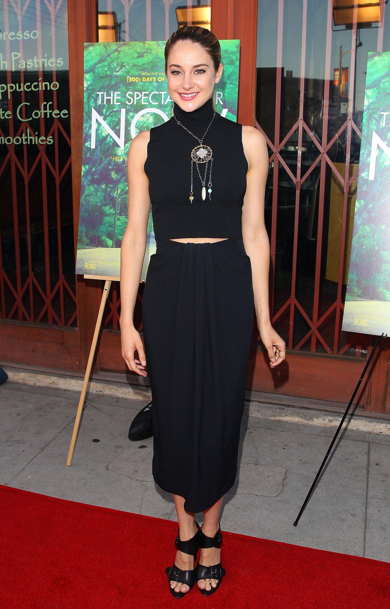 Shailene Woodley in Proenza Schouler at a Spectacular Now 2013 LA Screening
