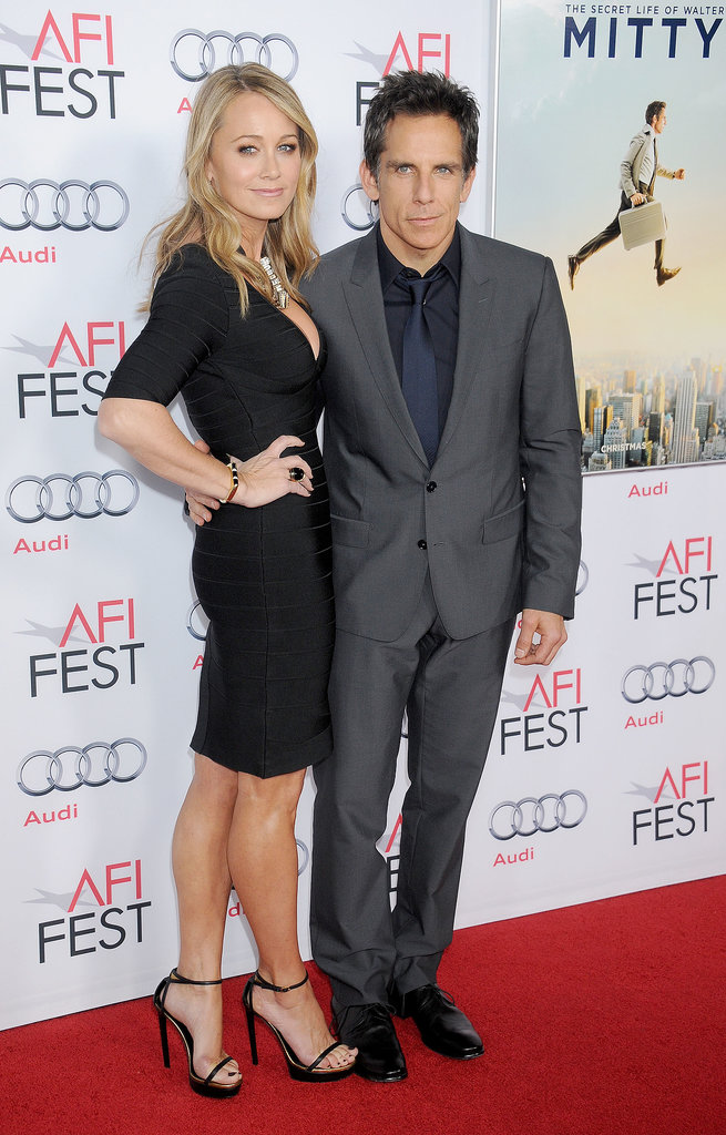 Ben Stiller brought wife Christine Taylor out on the red carpet.