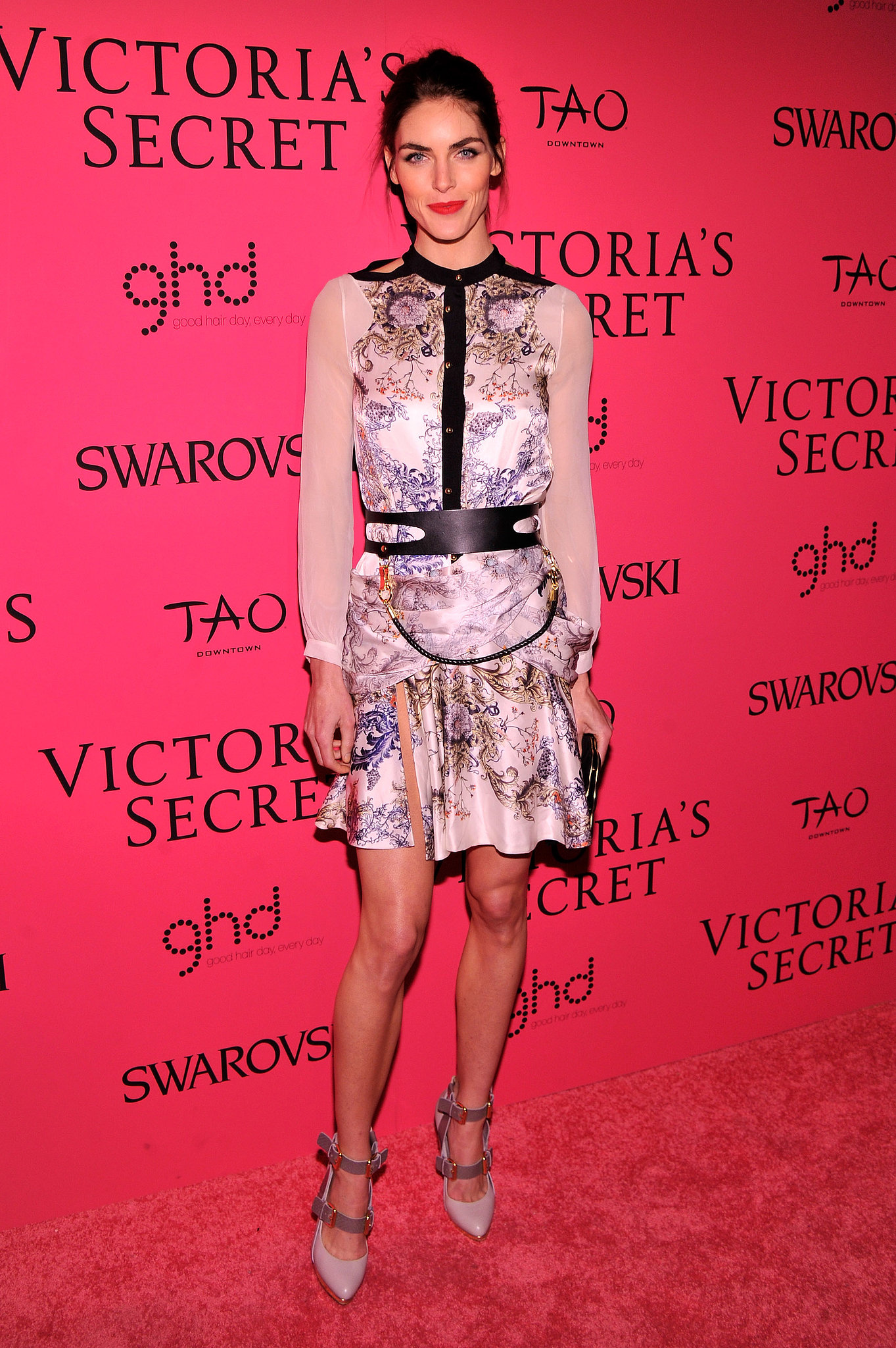 Hilary Rhoda in Prabal Gurung at the Victoria's Secret Fashion Show.
