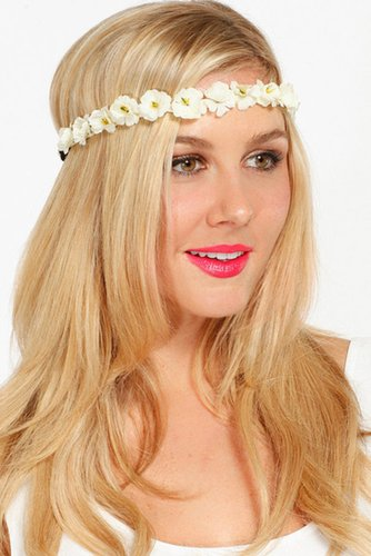 Ivory Floral Head Band