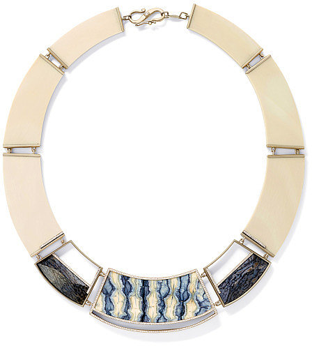 Monique Péan Fossilized Woolly Mammoth And White Diamond Collar Necklace