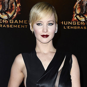 Jennifer Lawrence Black Dress; Catching Fire Premiere, Paris