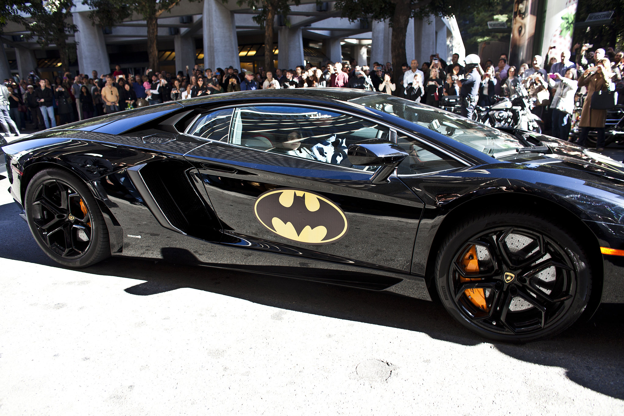 "Five-year-old Batkid made his way through the streets of ""Gotham City"" in his Batmobile."