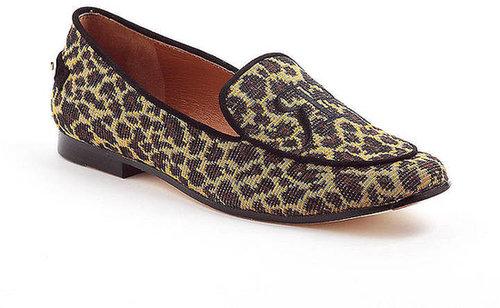 RACHEL ROY Gracie Leopard Print Smoking Flats