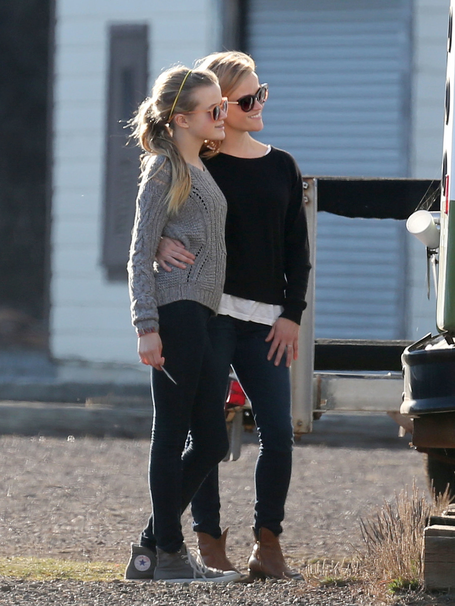 Reese Witherspoon wrapped her arm around her daughter, Ava, at a star-filled birthday celebration for producer Susan Downey, wife of Robert Downey Jr., near San Francisco on Saturday.