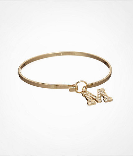 Pave Initial Hook Bangle - M