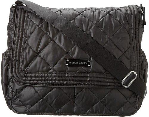 Vera Bradley - Puffy Messenger (Black) - Bags and Luggage