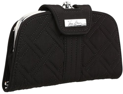 Vera Bradley - Kiss 'n' Snap Wallet (Black) - Bags and Luggage