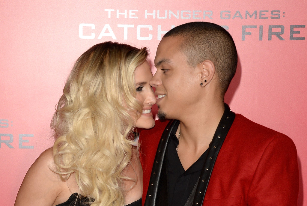 Ashlee Simpson and her man, Evan Ross, posed together.