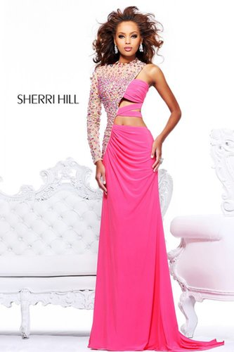2013 Sherri Hill 21002 Coral Nude Homecoming Dresses