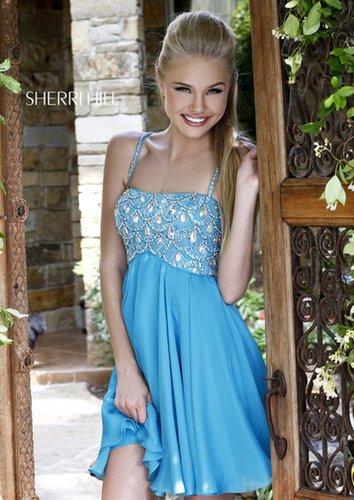 2013 Sherri Hill 11049 Turquoise Homecoming Dresses