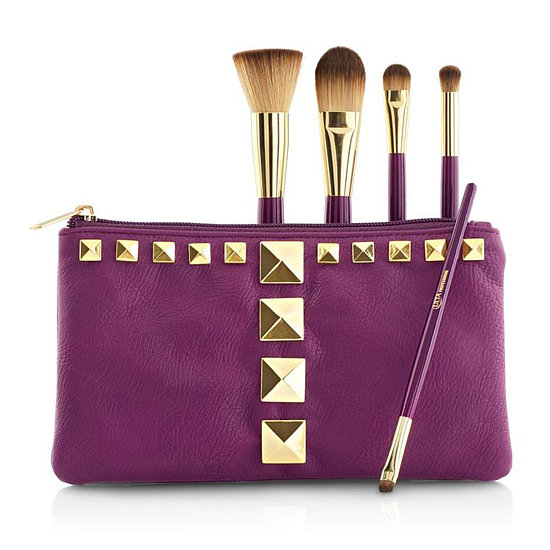 When it's cold and gray, a pop of color cuts right through the dreariness. This Ulta Professional Brush Set ($20) is cute, inexpensive, and bold. Plus, it comes with a cute studded pouch.