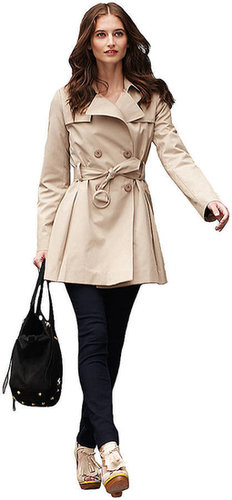 VIA SPIGA Short Wool Blend Trench Coat