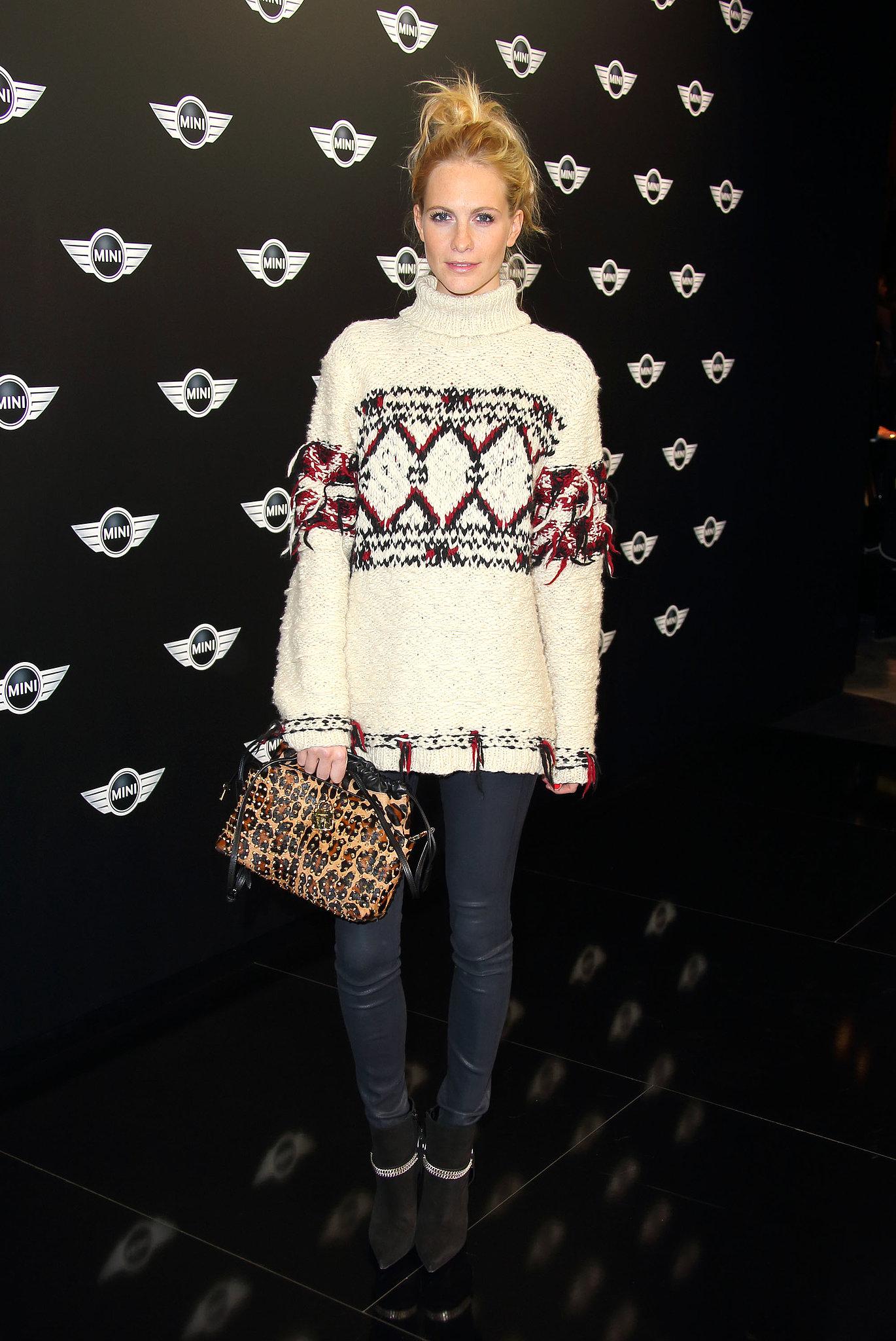 Poppy Delevingne at the world premiere of the new Mini.