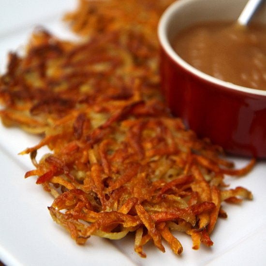 Sweet Potato and Carrot Latkes