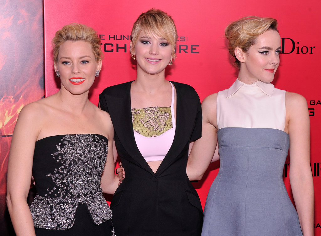 Jennifer Lawrence, Jena Malone, and Elizabeth Banks posed for one gorgeous picture together.