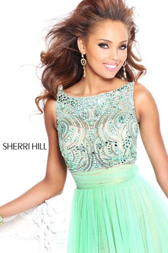 2013 Sherri Hill 11022 Green Homecoming Dresses