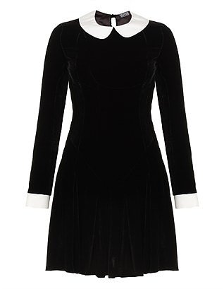 Black Velvet Ophelia Dress