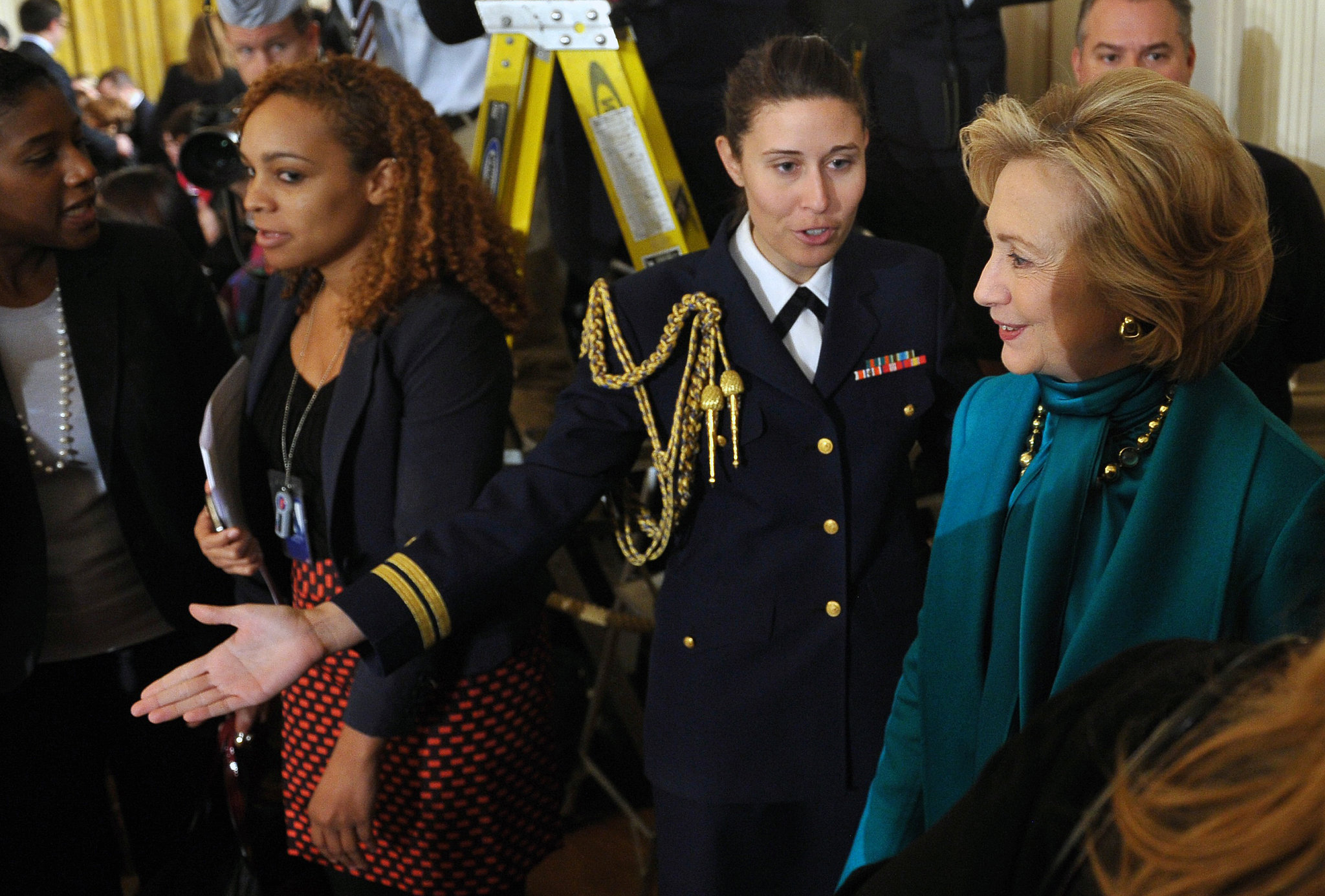 Hillary Clinton was on hand to celebrate her husband Bill Clinton's achievement.
