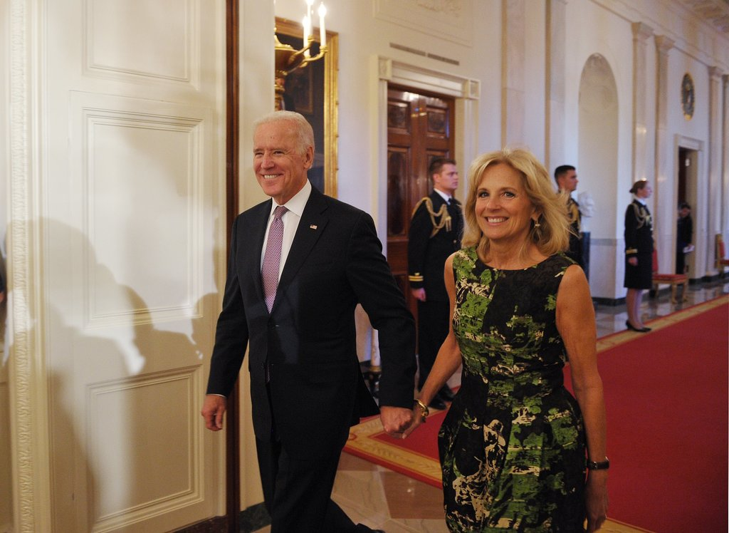 Vice president joe biden attended the event with his wife dr jill