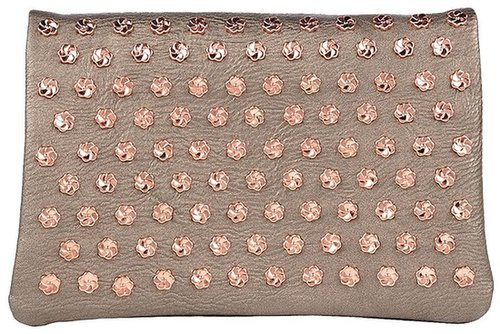 7CHI Floral Studded Clutch