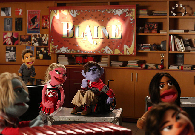 Behold the muppet versions of Sam, Will, Kitty, Artie, Unique, and Tina.
