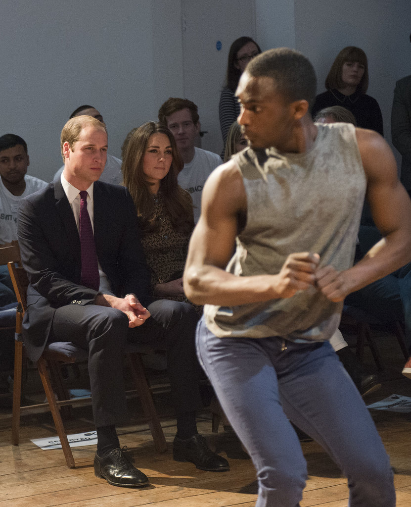 On Tuesday, Will and Kate showed support for a charity helping ex-offenders and took in a dance performance.