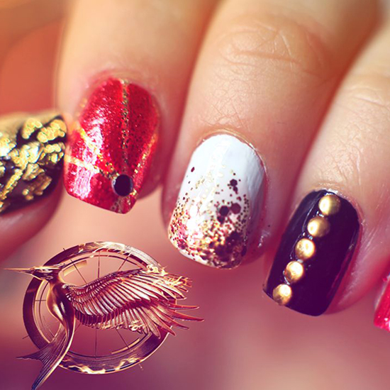 Catching Fire Nail Art Tutorial 2013 | Video | POPSUGAR Beauty