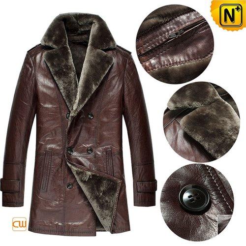 Shearling Mens Winter Coat CW868815