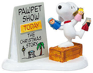 Department 56 Collectible Figurine, Peanuts Village Snoopy's Christmas Pawpet Show