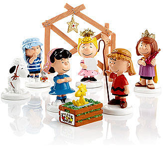 Department 56 Collectible Figurines, Peanuts Village Peanuts 8 Piece Nativity Set