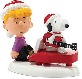 Department 56 Collectible Figurine, Peanuts Village Shroeders & Snoopy's Christmas Jam