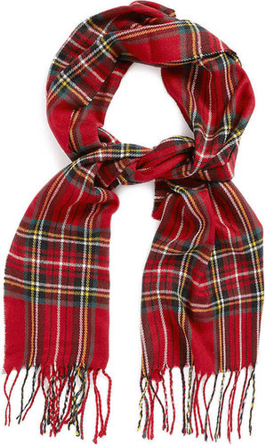 Red And Yellow Tartan Scarf