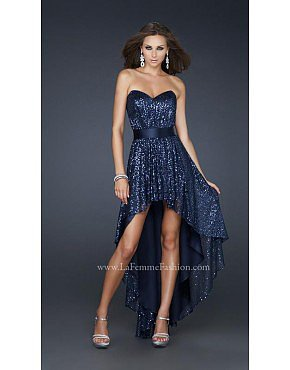 La Femme 17334 Navy Dresses for Homecoming